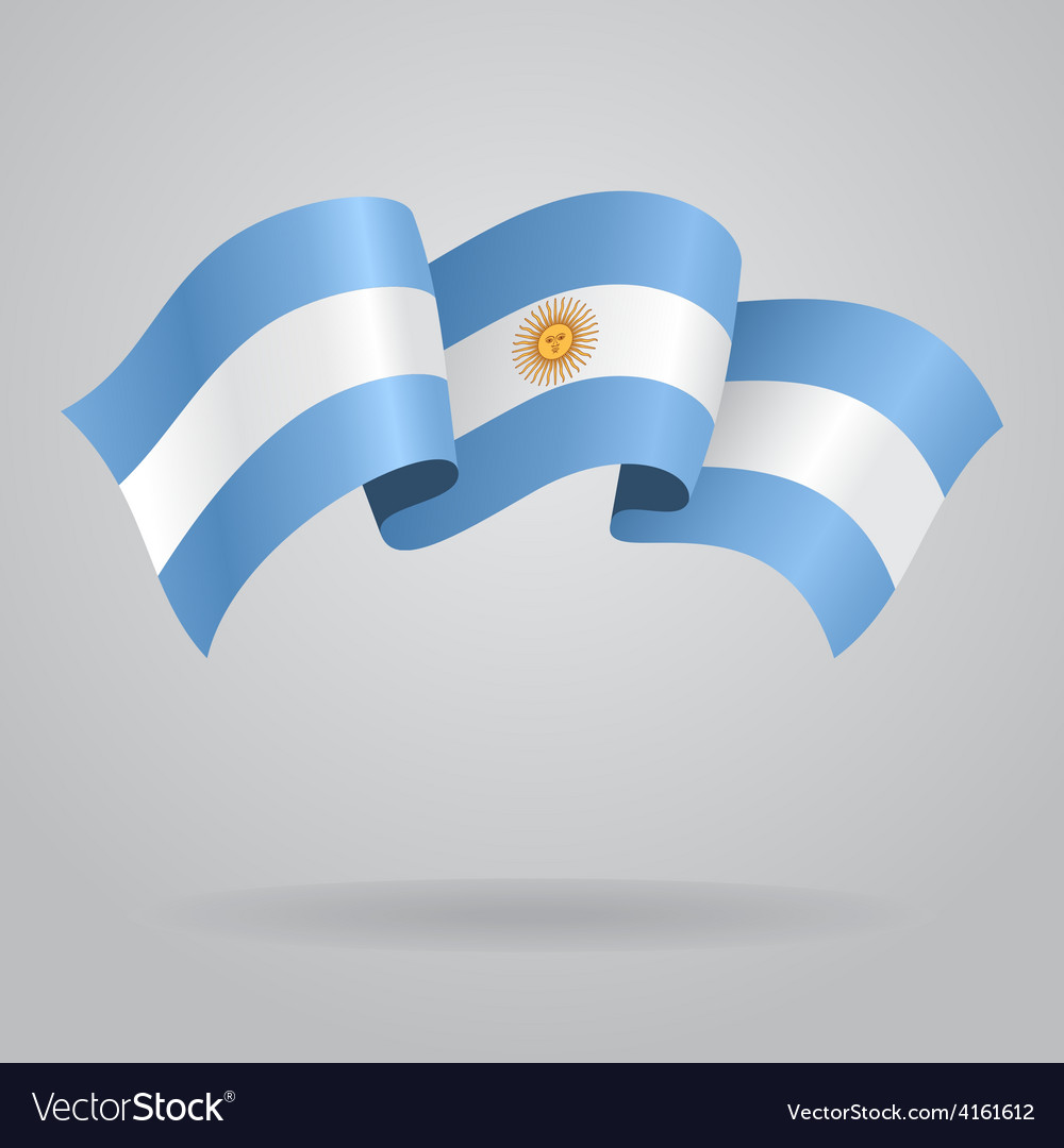 Argentine waving flag vector | Price: 3 Credit (USD $3)