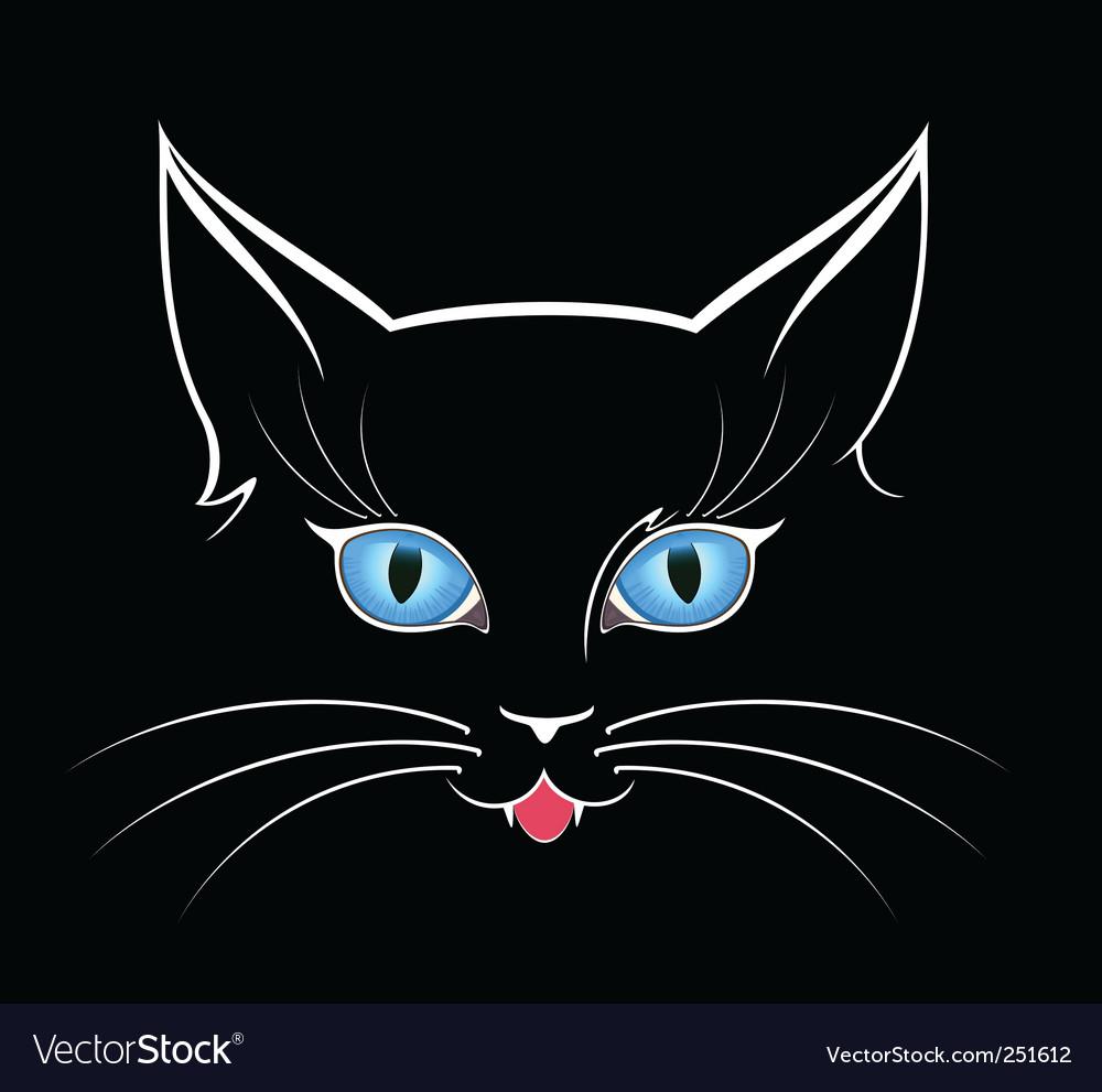 Black cat vector   Price: 1 Credit (USD $1)
