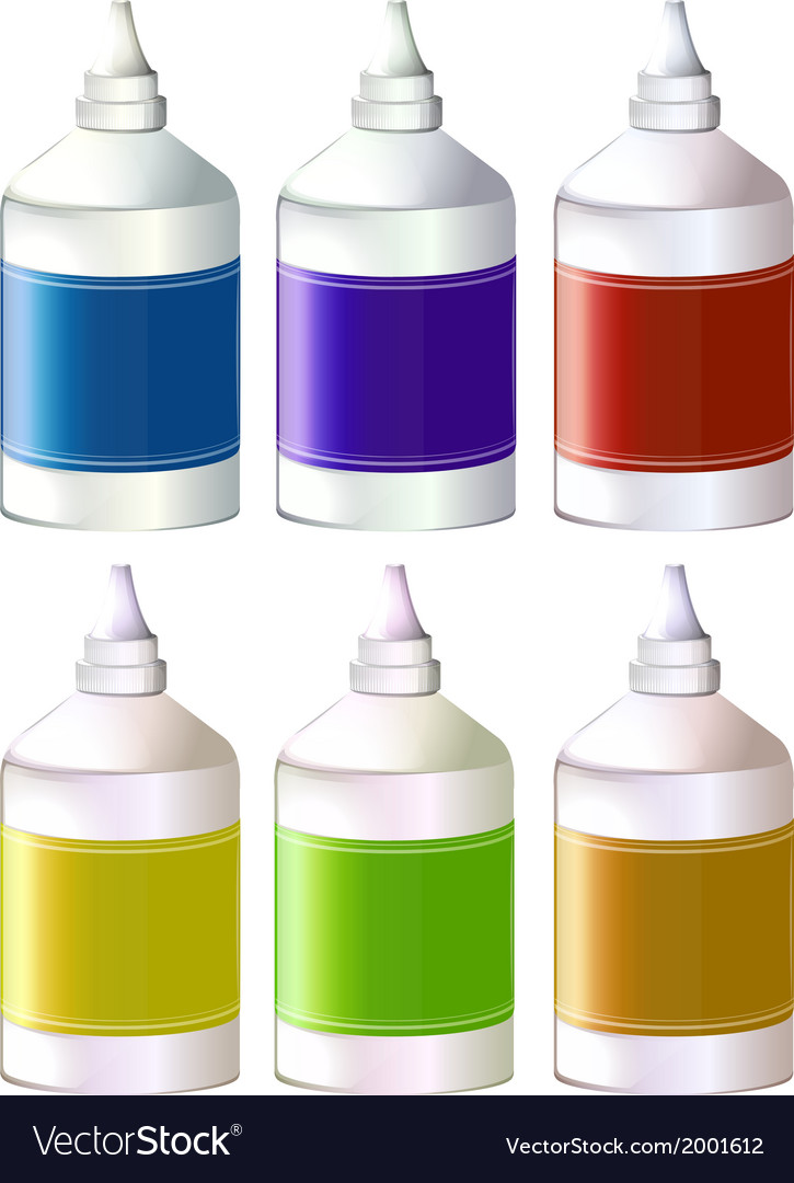 Bottles of colorful inks vector | Price: 1 Credit (USD $1)