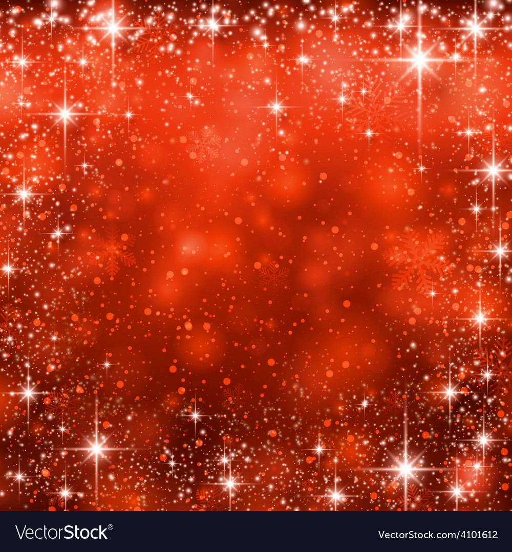 Christmas red starry background vector | Price: 1 Credit (USD $1)