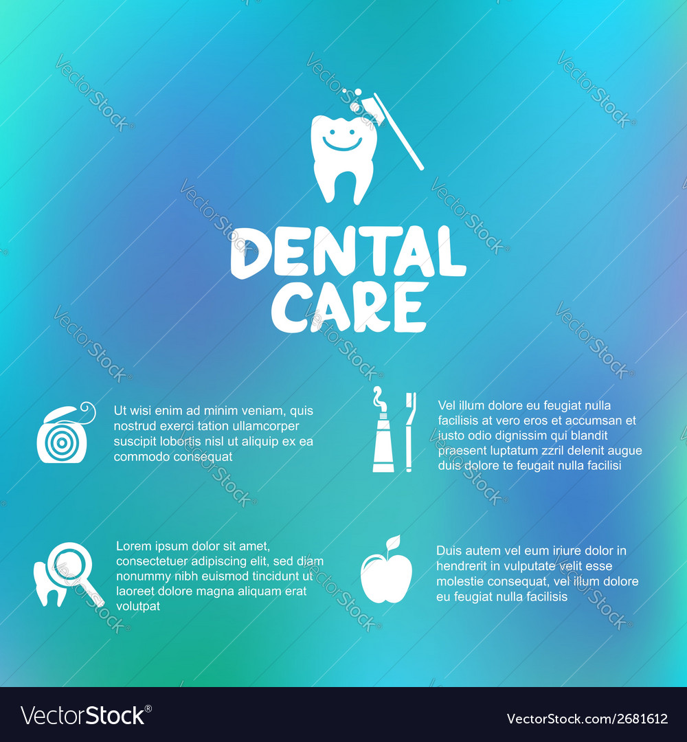 Dental care simple infographics vector | Price: 1 Credit (USD $1)