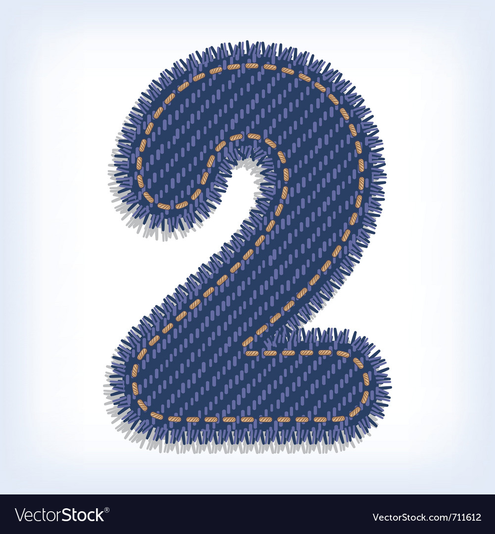 Digit of jeans alphabet vector | Price: 1 Credit (USD $1)