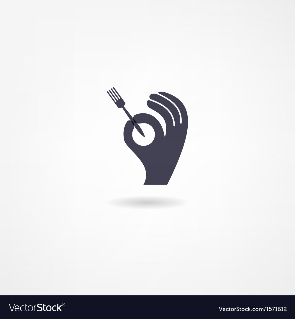 Fork icon vector | Price: 1 Credit (USD $1)