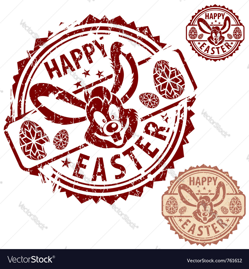 Grunge easter stamps vector | Price: 1 Credit (USD $1)