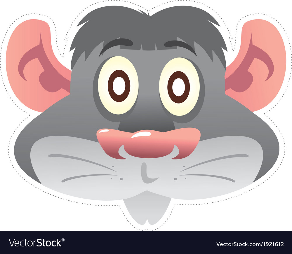 Mask mouse vector | Price: 1 Credit (USD $1)
