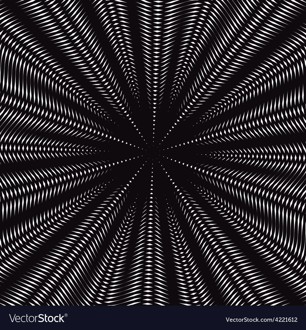 Moire pattern op art background hypnotic backdrop vector | Price: 1 Credit (USD $1)