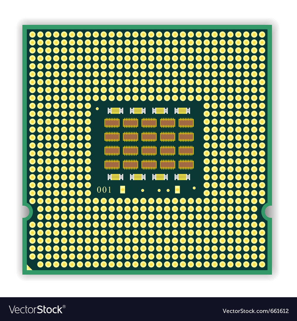 Multi core processor vector | Price: 1 Credit (USD $1)