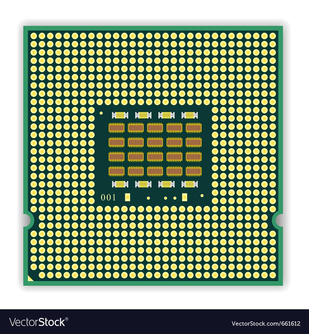 Multi core processor vector | Price: 1 Credit (USD $1)