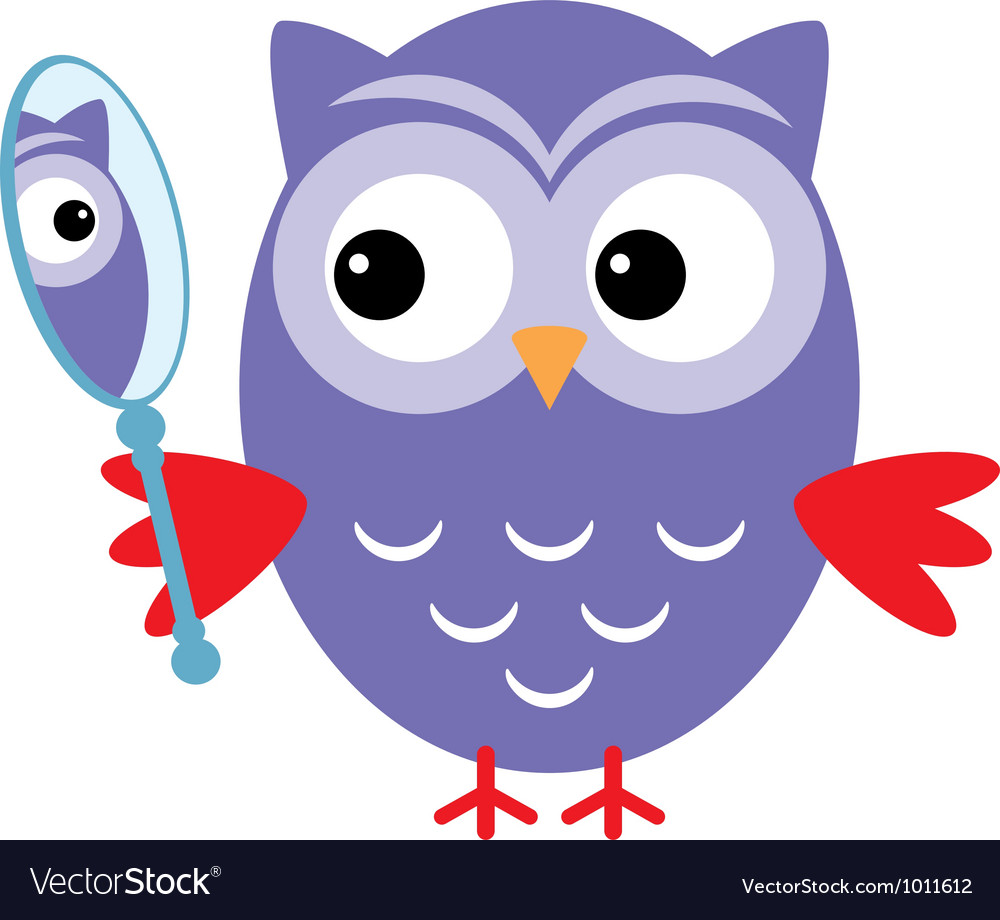 Owl mirror vector | Price: 1 Credit (USD $1)
