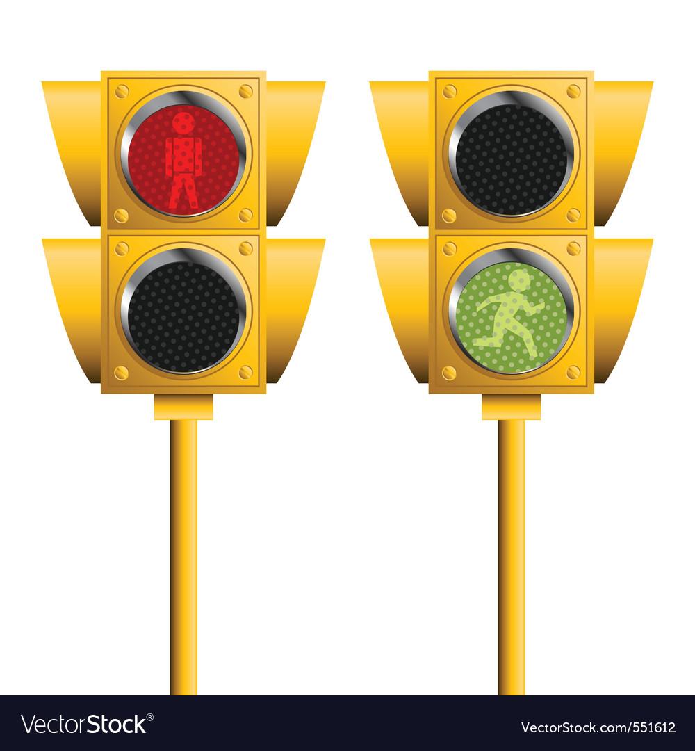 Pedestrian lights vector | Price: 1 Credit (USD $1)