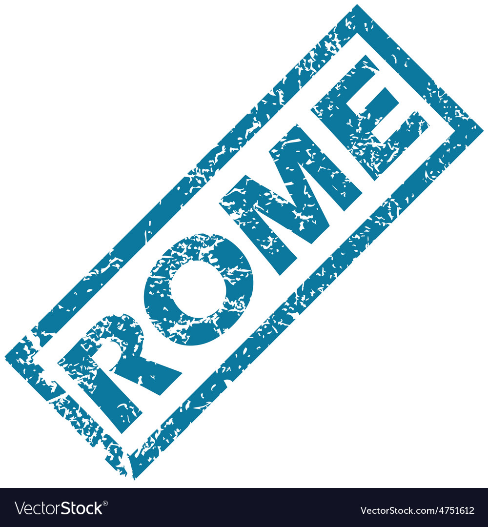 Rome rubber stamp vector | Price: 1 Credit (USD $1)
