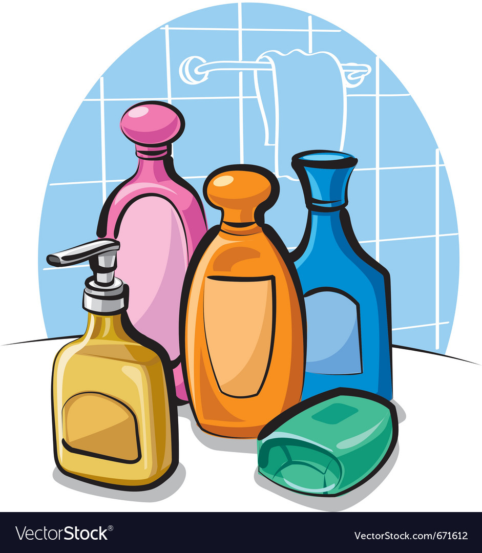 Shampoo and soap vector | Price: 3 Credit (USD $3)