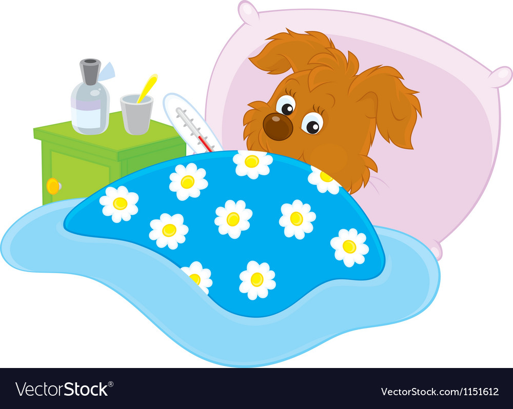 Sick puppy vector | Price: 1 Credit (USD $1)