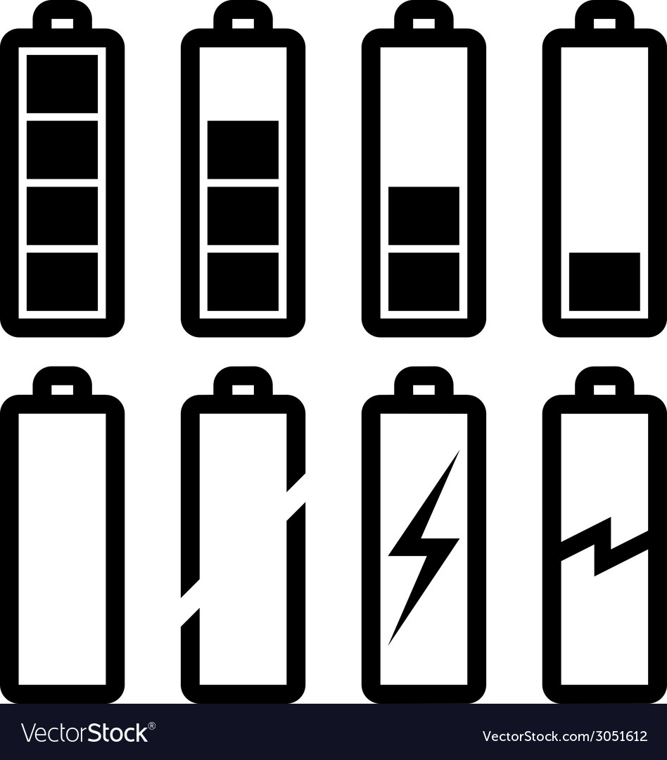 Symbols of battery level vector | Price: 1 Credit (USD $1)