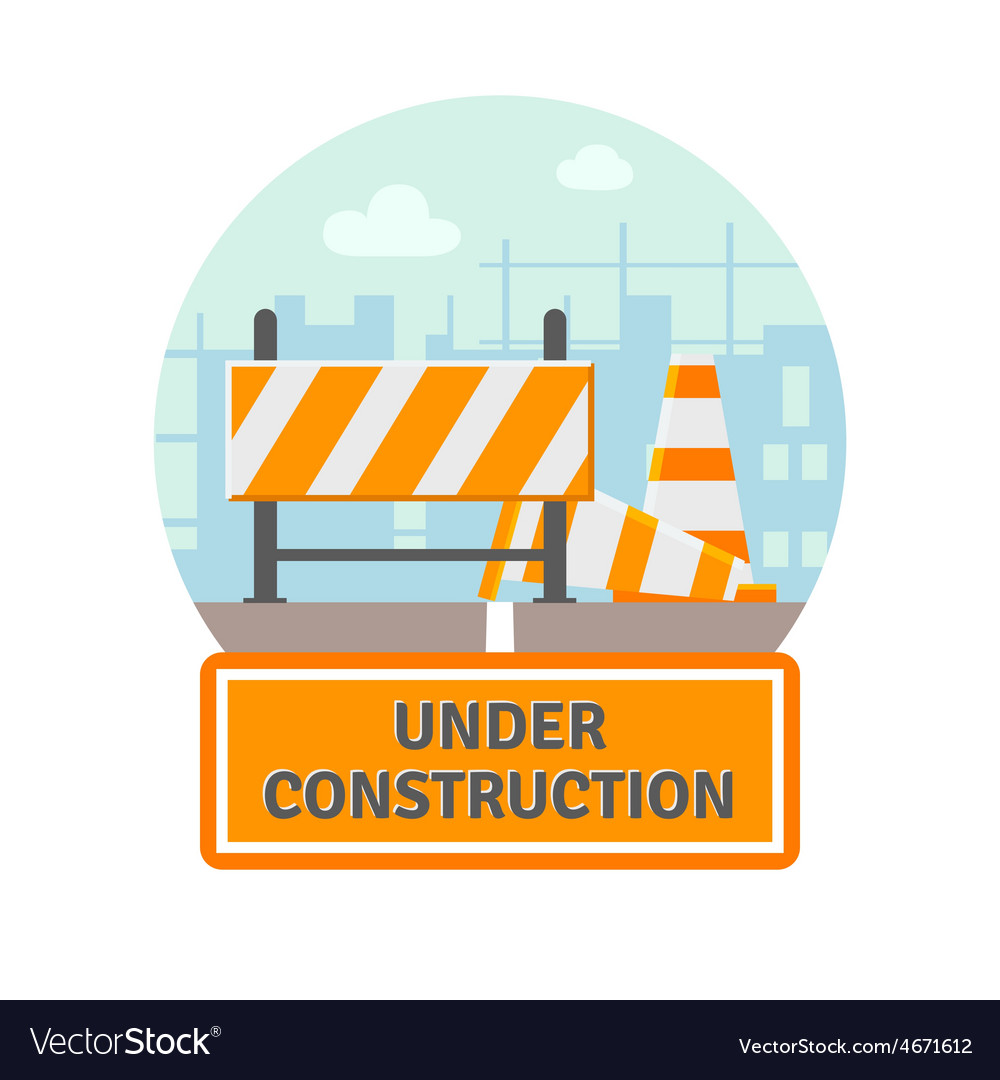 Under construction flat icon vector | Price: 1 Credit (USD $1)