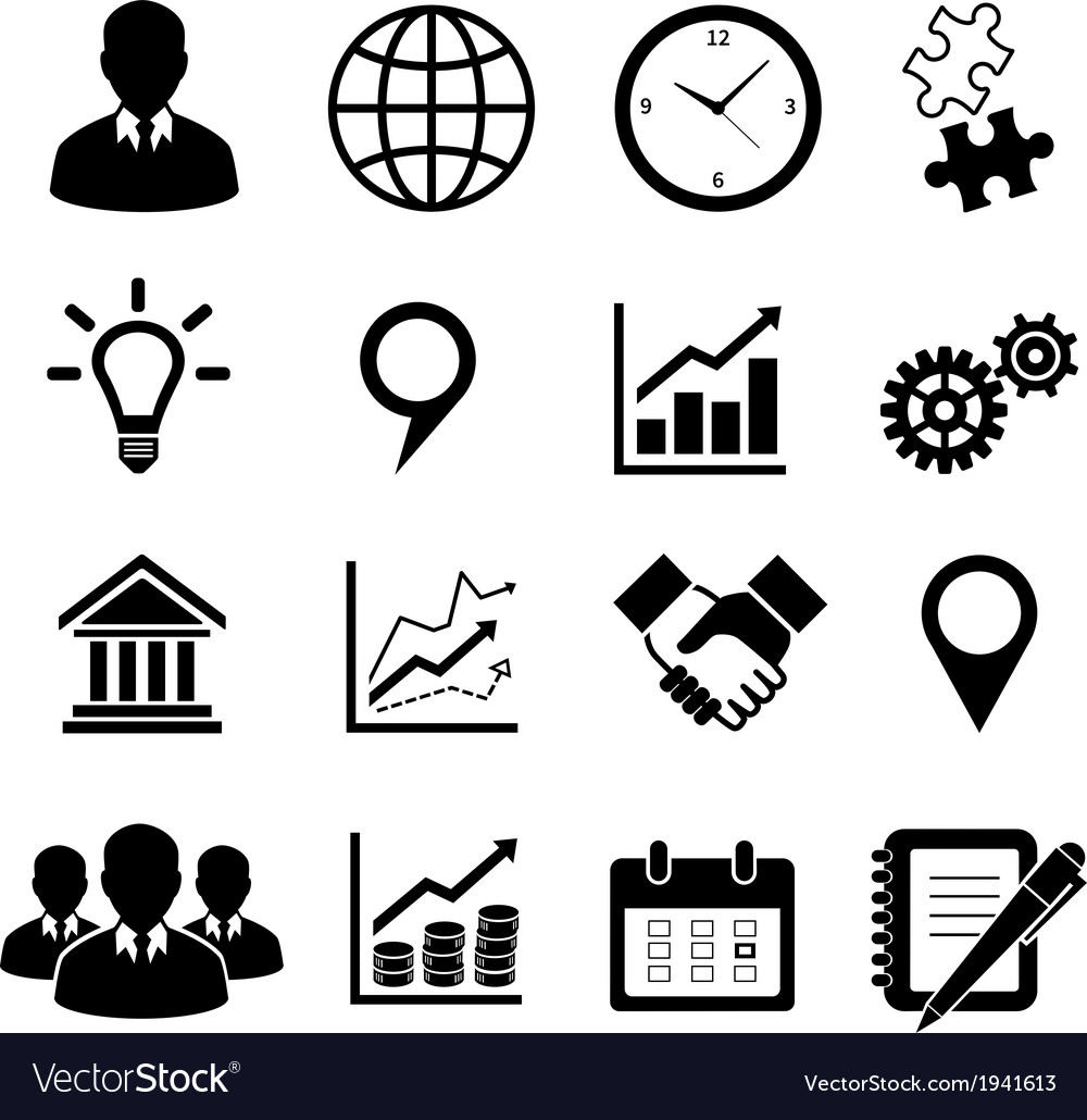 Business icons set for infographics vector | Price: 1 Credit (USD $1)