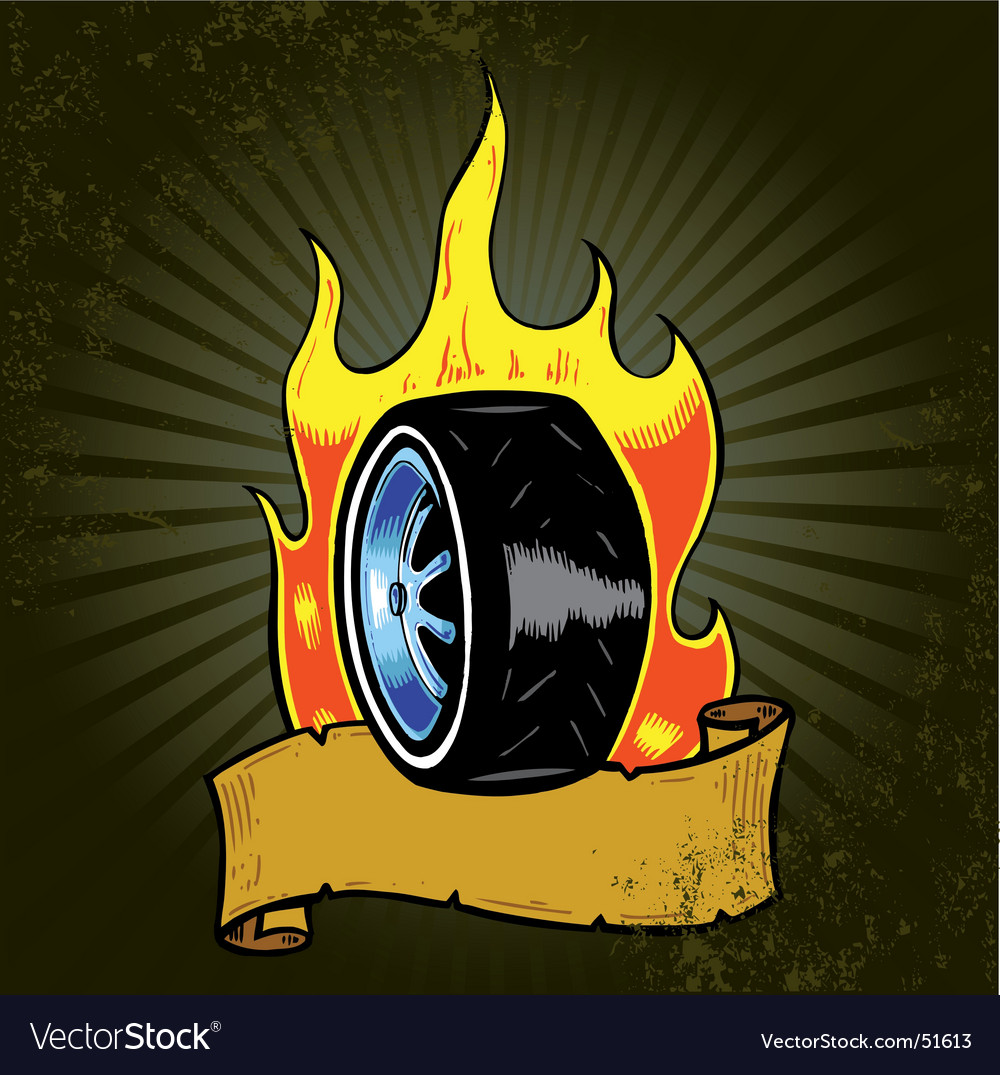 Flaming wheel vector | Price: 1 Credit (USD $1)