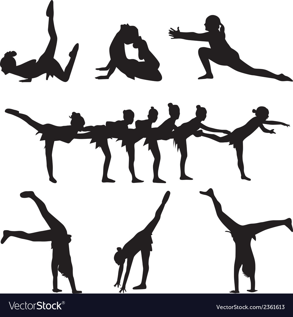 Gymnastics and dance vector | Price: 1 Credit (USD $1)