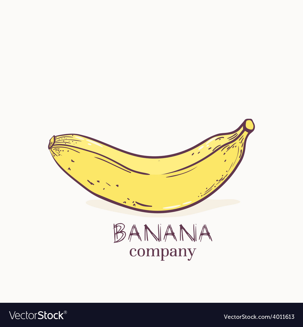 Hand drawn banana vector | Price: 1 Credit (USD $1)