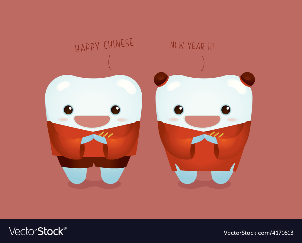 Happy chinese new year of dental vector | Price: 1 Credit (USD $1)