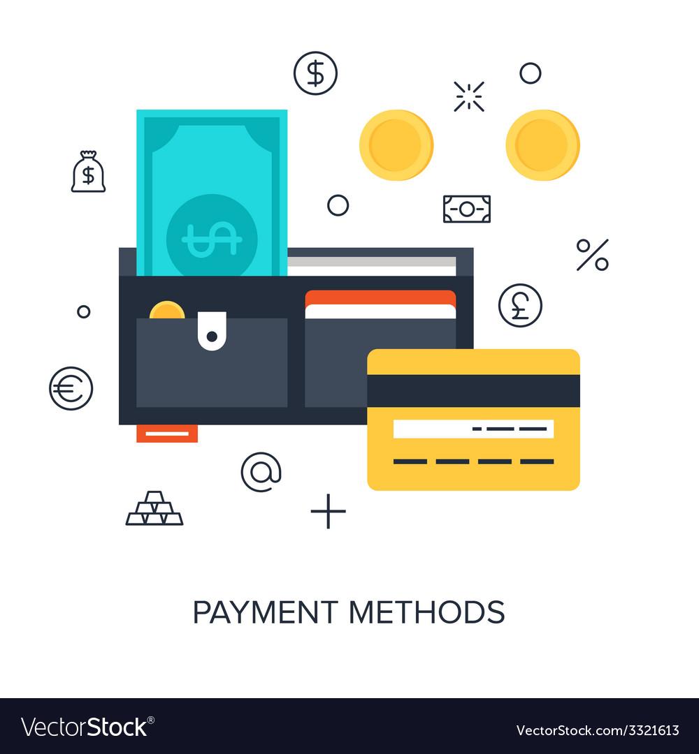 Payment methods vector | Price: 1 Credit (USD $1)