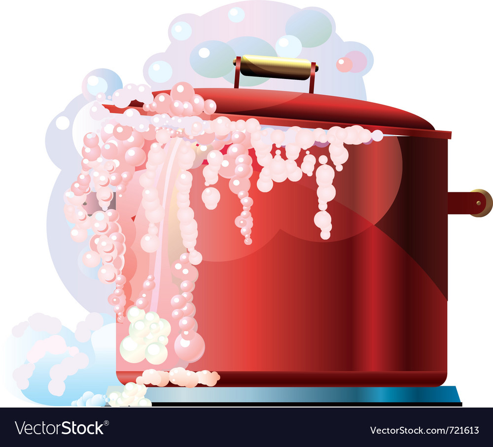 Red boiling pan vector | Price: 1 Credit (USD $1)