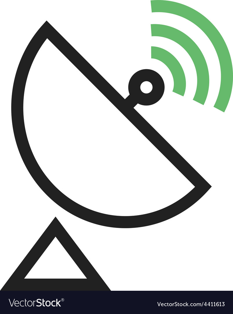 Satellite dish vector | Price: 1 Credit (USD $1)
