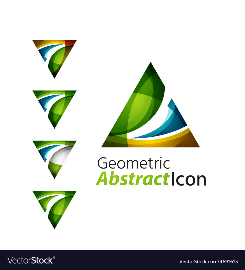 Set of abstract geometric company logo triangle vector | Price: 1 Credit (USD $1)