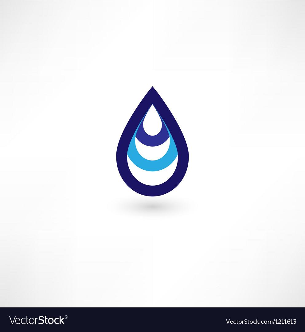 Water drop symbol vector | Price: 1 Credit (USD $1)