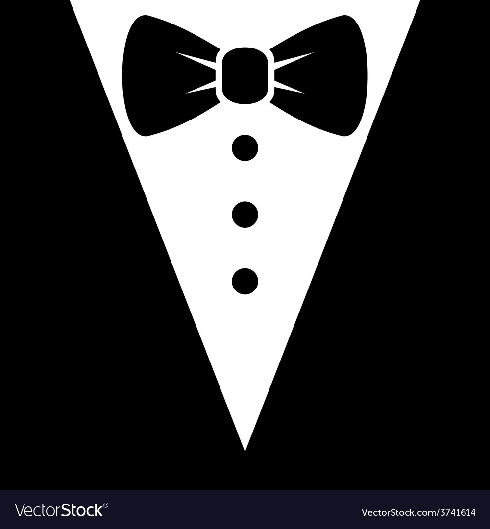 Bow tie and black suit icon vector | Price: 1 Credit (USD $1)