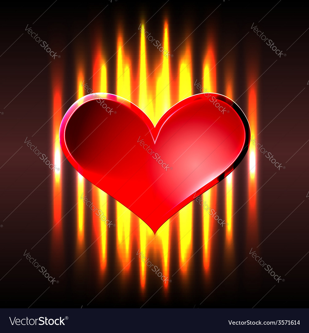 Burning heart vector | Price: 1 Credit (USD $1)