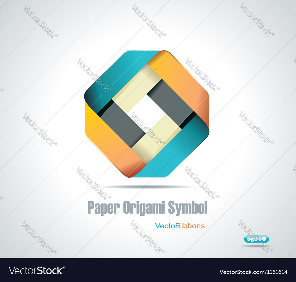 Corporate icon rhombus ribbon vector | Price: 1 Credit (USD $1)