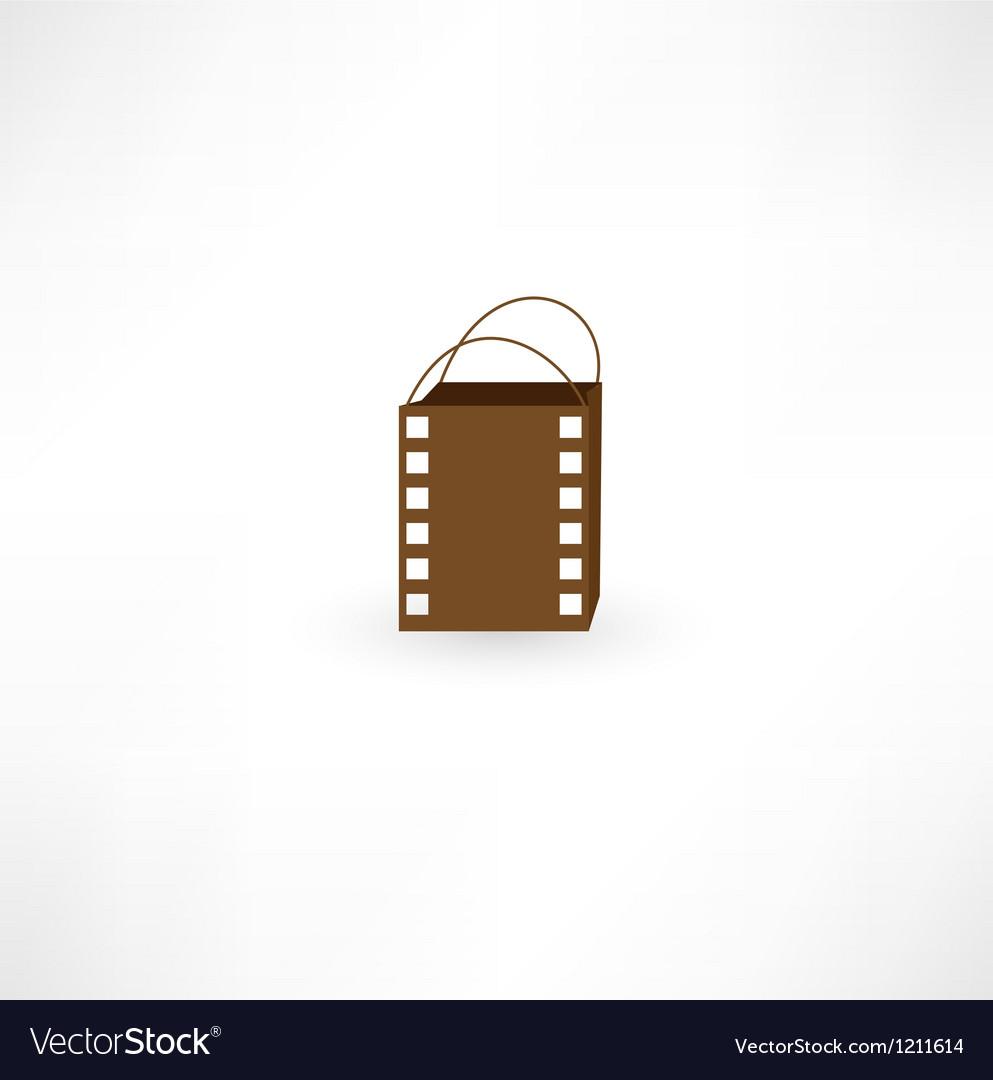 Film bag icon vector   Price: 1 Credit (USD $1)