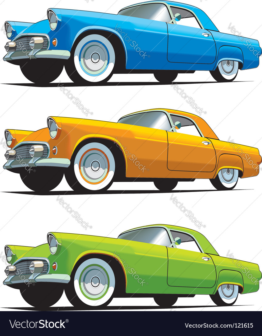American old-fashioned car vector | Price: 1 Credit (USD $1)