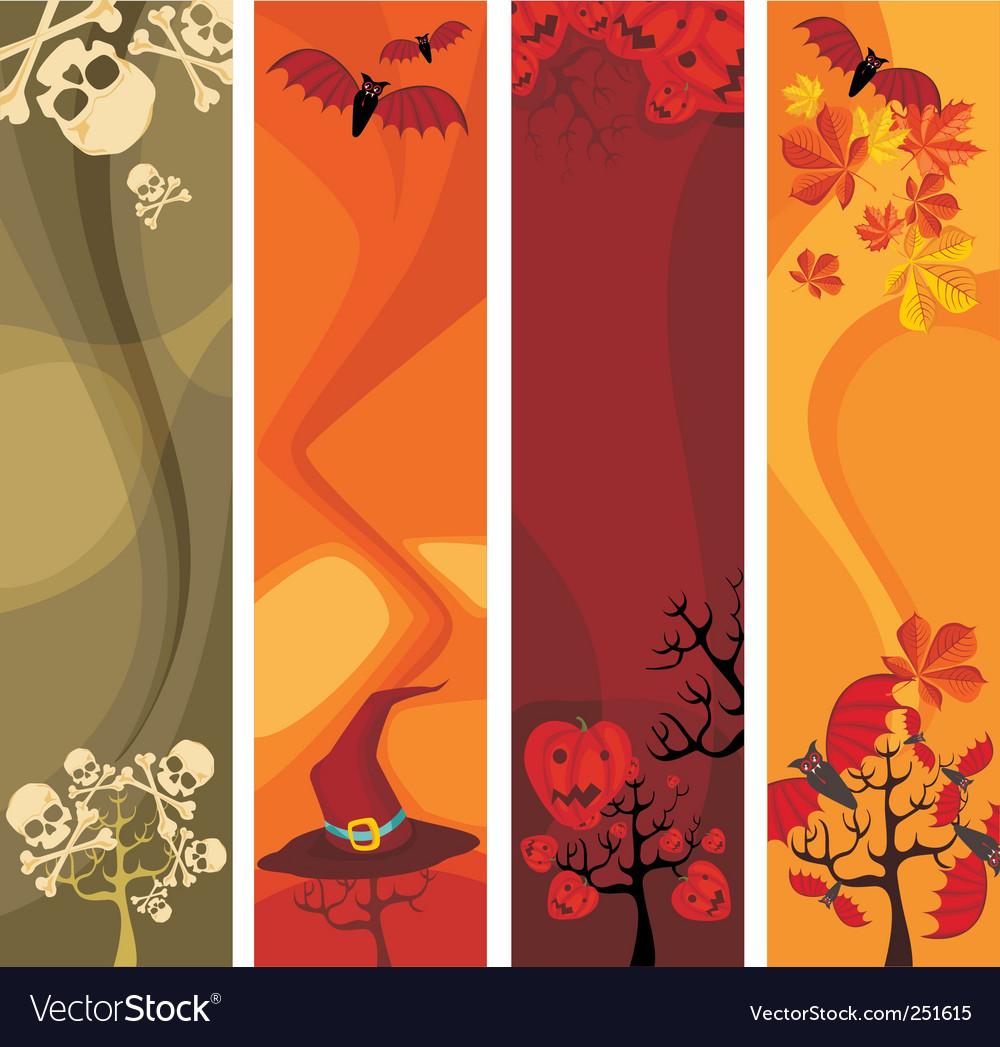 Halloween banners vector   Price: 1 Credit (USD $1)