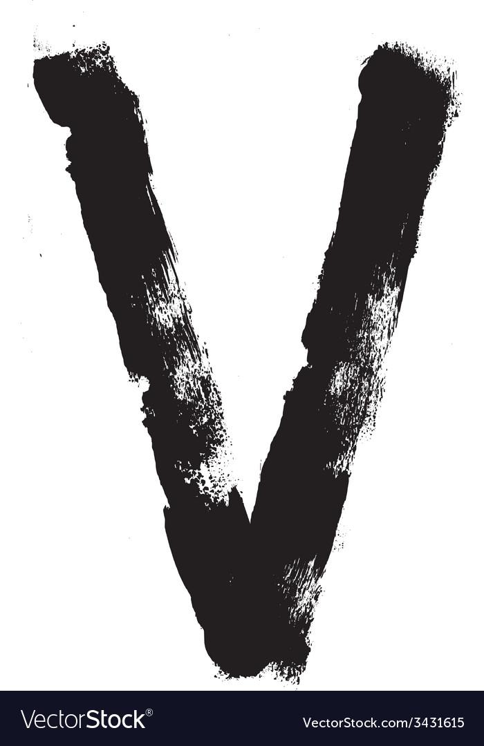 Hand written brush font type alphabet detailed vector | Price: 1 Credit (USD $1)