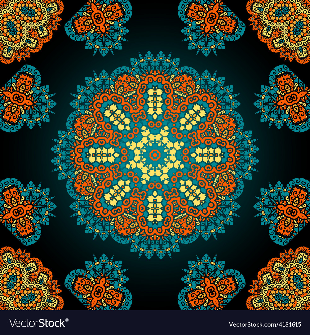 Seamless geometric pattern in oriental style vector | Price: 1 Credit (USD $1)