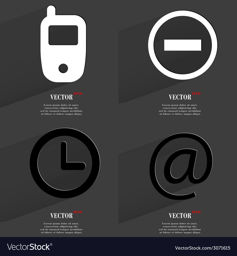 Set of fashionable icons trending symbols flat vector   Price: 1 Credit (USD $1)