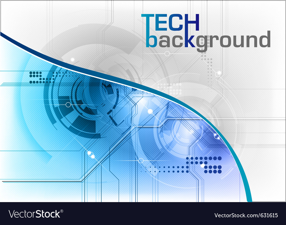 Tech background in the blue vector | Price: 1 Credit (USD $1)