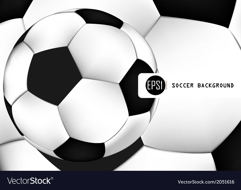 Abstract background of soccer ball pattern design vector | Price: 1 Credit (USD $1)