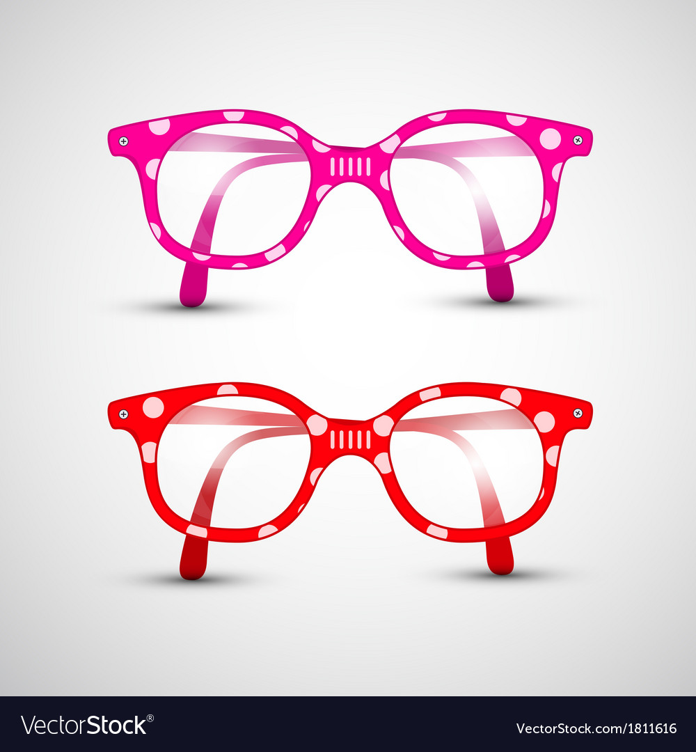 Abstract funny red pink glasses with dots vector | Price: 1 Credit (USD $1)