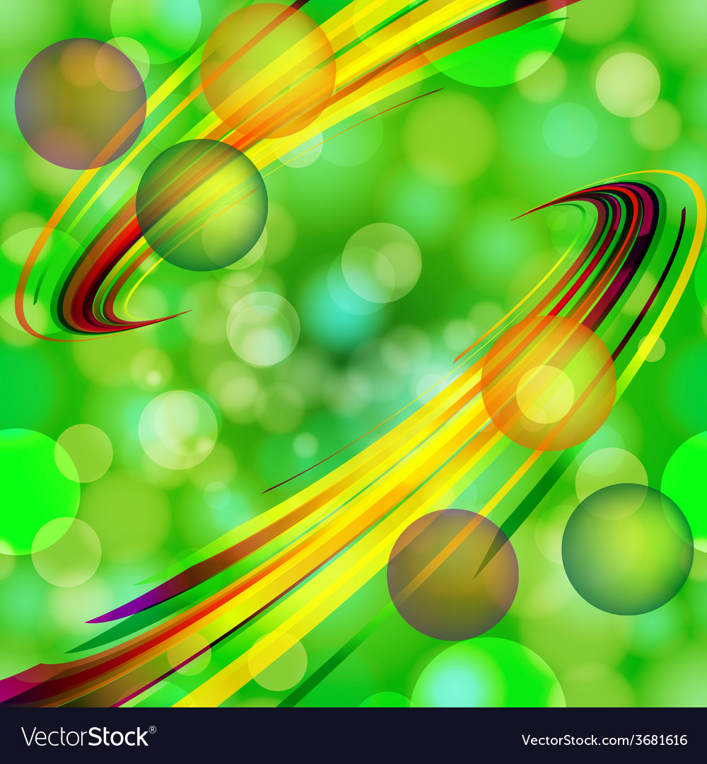 Abstract light bubbles background with bent lines vector | Price: 1 Credit (USD $1)