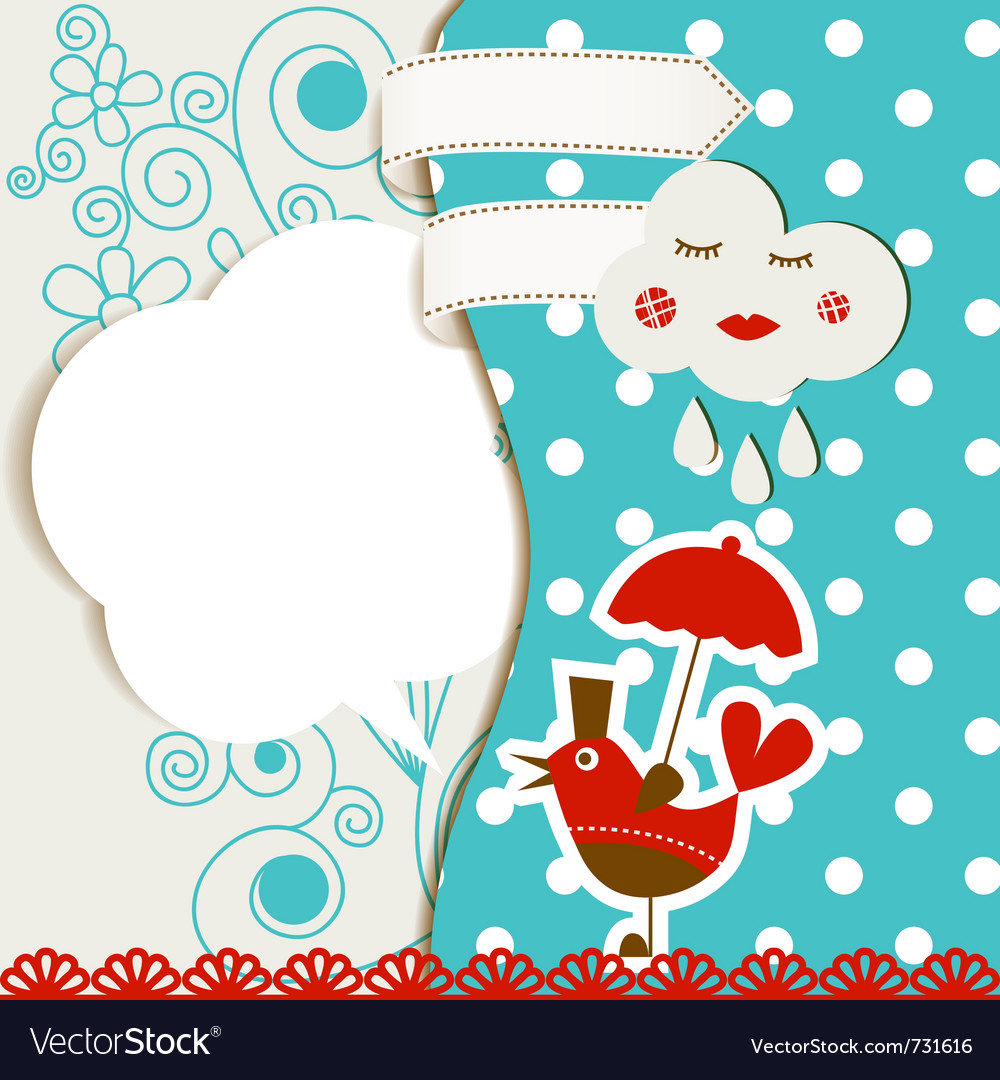 Baby card vector   Price: 1 Credit (USD $1)