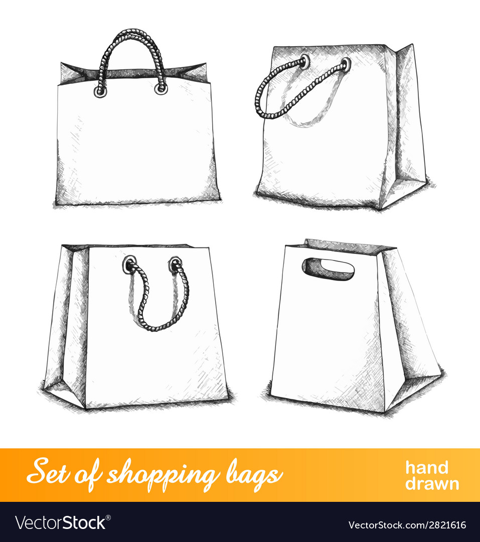 Bags for shopping set vector | Price: 1 Credit (USD $1)