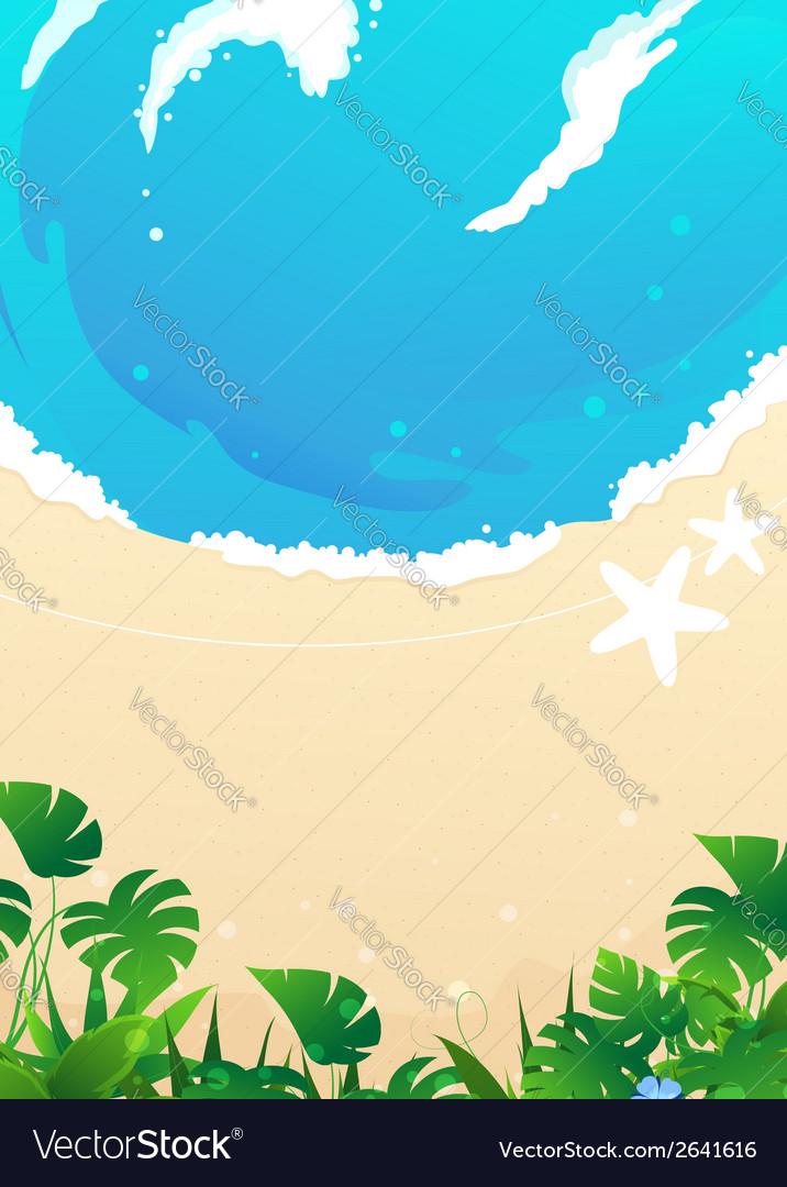 Beach background vector | Price: 1 Credit (USD $1)