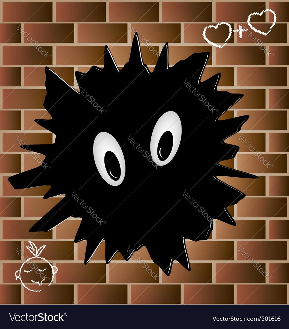 Blob on a brick wall vector | Price: 1 Credit (USD $1)