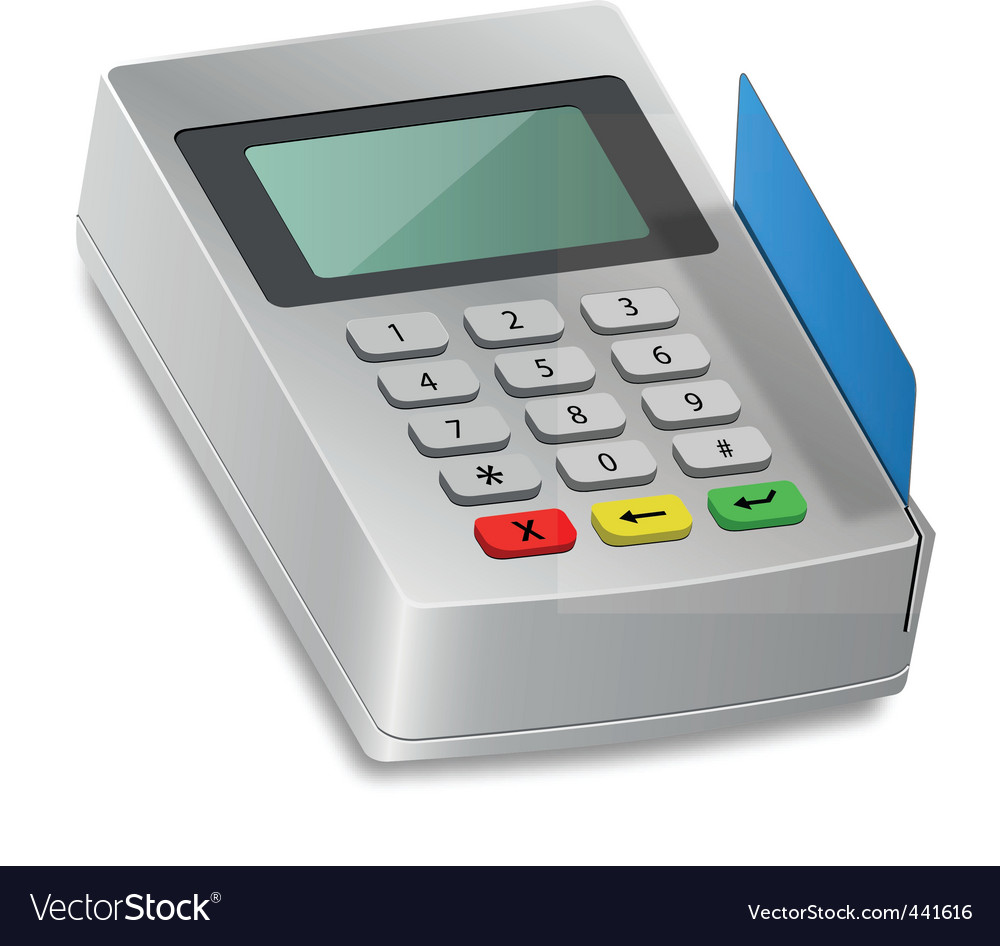 Card reader vector | Price: 1 Credit (USD $1)