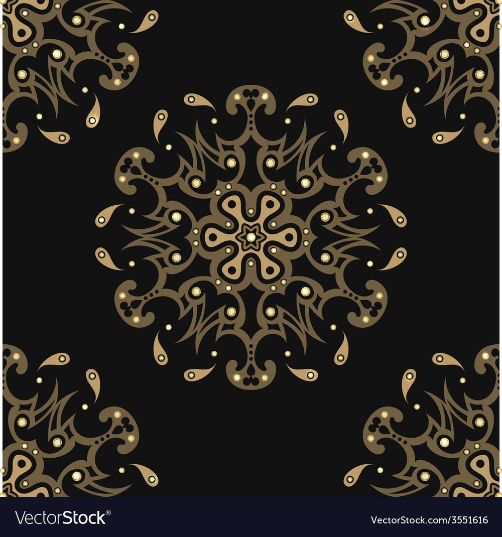 Diamonds seamless pattern vector | Price: 1 Credit (USD $1)