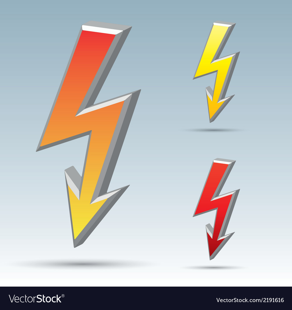 Flash arrow vector | Price: 1 Credit (USD $1)