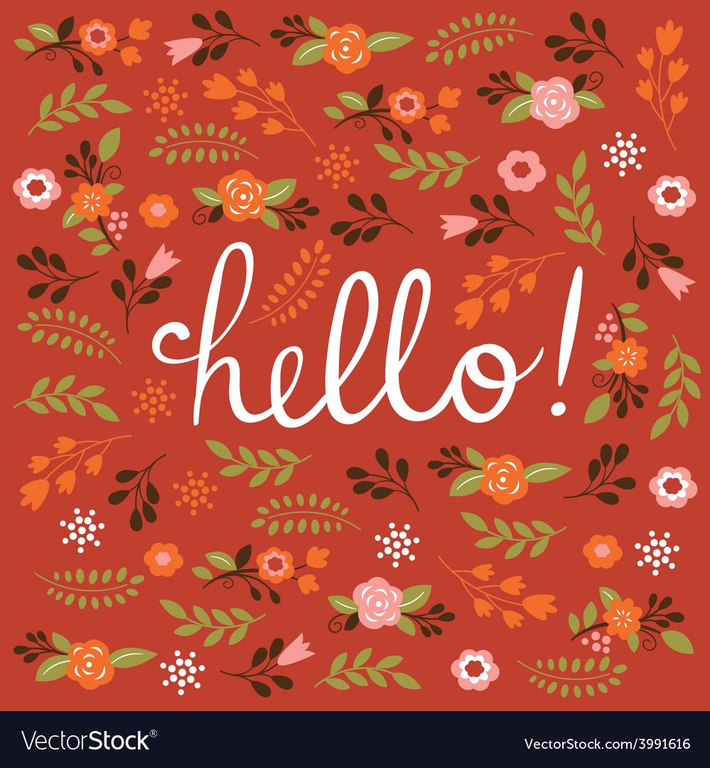 Hello card design vector | Price: 1 Credit (USD $1)